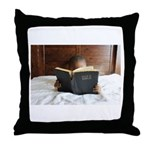 Boy With The Bible Throw Pillow