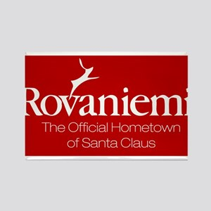 Rovaniemi, home of Santa Rectangle Magnet