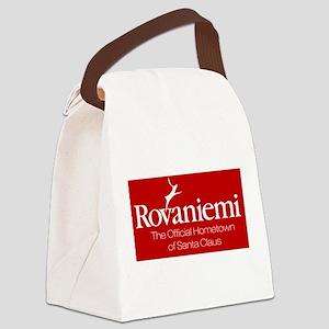 Rovaniemi, home of Santa Canvas Lunch Bag