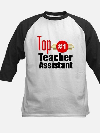 Top Teacher Assistant Kids Baseball Jersey