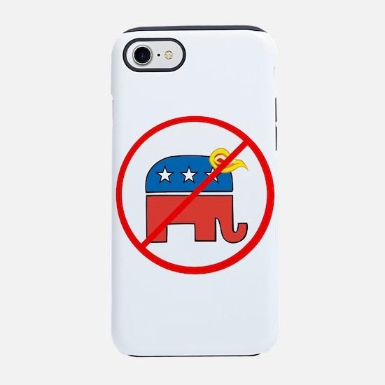 No Trump, Republican elephant iPhone 7 Tough Case