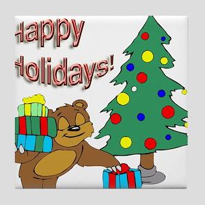 Happy Holidays! Tile Coaster