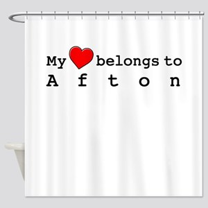 My Heart Belongs To Afton Shower Curtain
