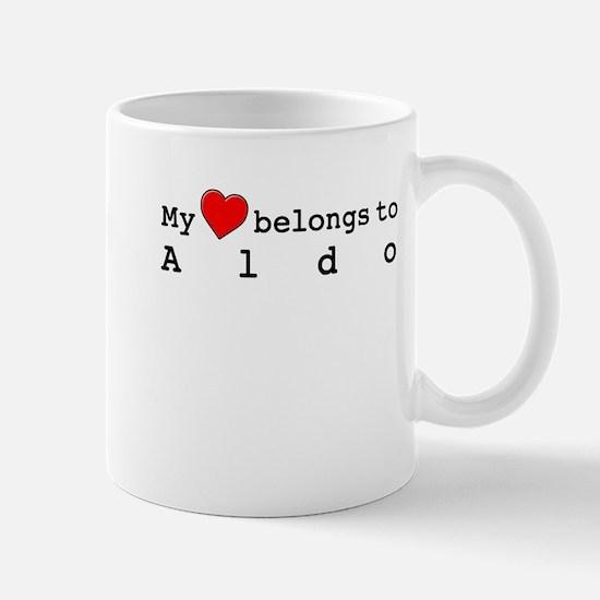 My Heart Belongs To Aldo Mug