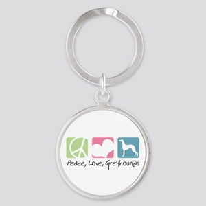 peacedogs Round Keychain