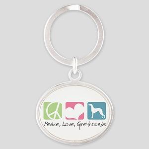 peacedogs Oval Keychain