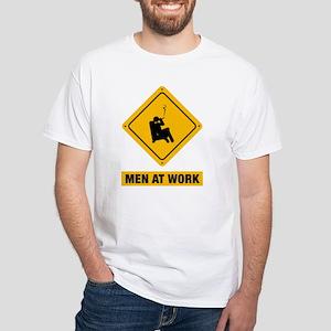 Cigar Smoking White T-Shirt