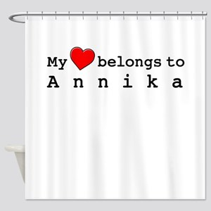 My Heart Belongs To Annika Shower Curtain