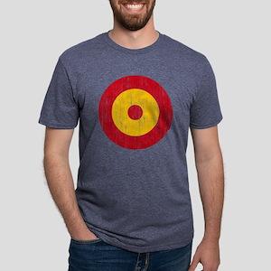 Spain Roundel Aged Mens Tri-blend T-Shirt
