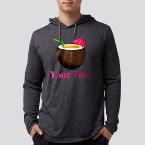 Personalizable Tropical Coconut  Mens Hooded Shirt