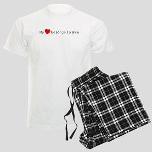 My Heart Belongs To Ava Men's Light Pajamas
