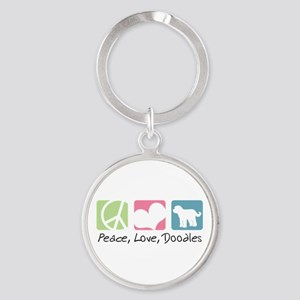 peacedogs Round Keychain