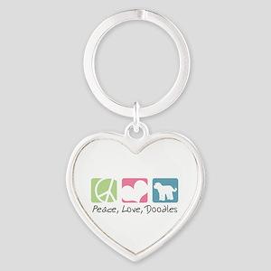 peacedogs Heart Keychain