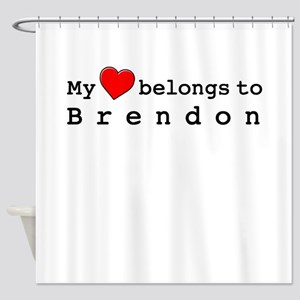 My Heart Belongs To Brendon Shower Curtain