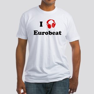 Eurobeat music Fitted T-Shirt