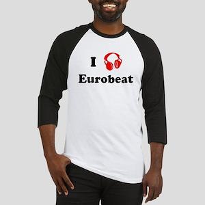 Eurobeat music Baseball Jersey