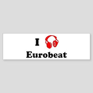 Eurobeat music Bumper Sticker