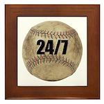 24/7 Baseball Framed Tile