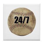 24/7 Baseball Tile Coaster