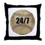 24/7 Baseball Throw Pillow