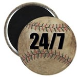 24/7 Baseball Magnet