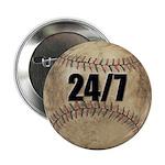 24/7 Baseball Button