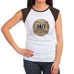 24/7 Baseball Women's Cap Sleeve T-Shirt