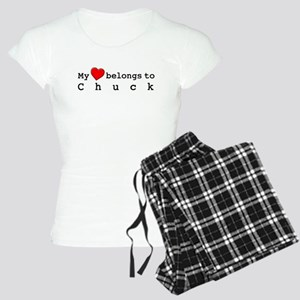 My Heart Belongs To Chuck Women's Light Pajamas