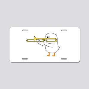 Trombone Player Aluminum License Plate