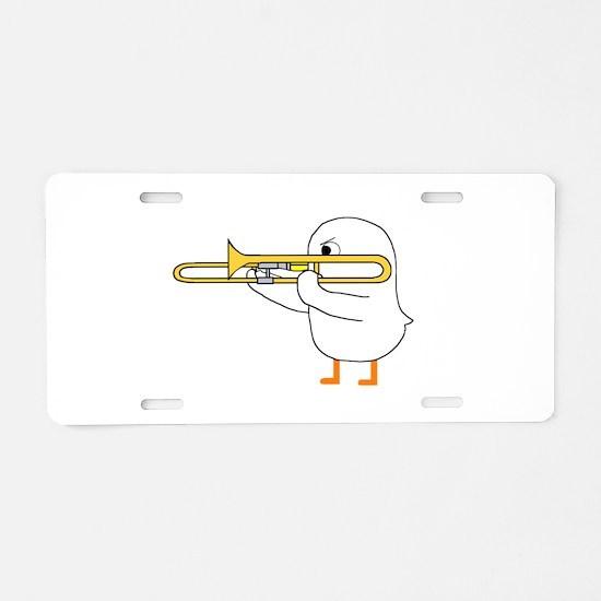 Trombone Player Aluminum License Plate