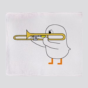 Trombone Player Throw Blanket