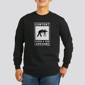 Cameraman Long Sleeve Dark T-Shirt