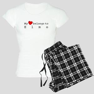 My Heart Belongs To Elmo Women's Light Pajamas