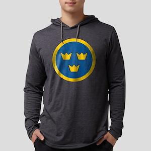 Sweden Roundel Aged Mens Hooded Shirt