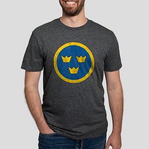 Sweden Roundel Aged Mens Tri-blend T-Shirt