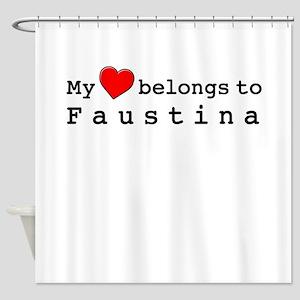 My Heart Belongs To Faustina Shower Curtain