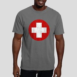 Switzerland Roundel Aged Mens Comfort Colors Shirt
