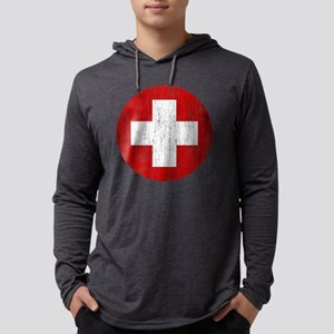 Switzerland Roundel Aged Mens Hooded Shirt