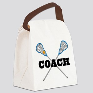 Lacrosse Coach Canvas Lunch Bag