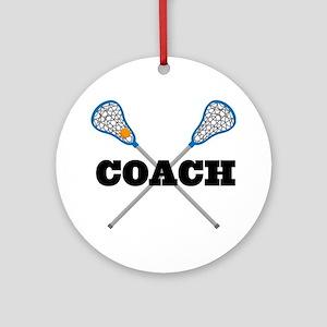 Lacrosse Coach Ornament (Round)