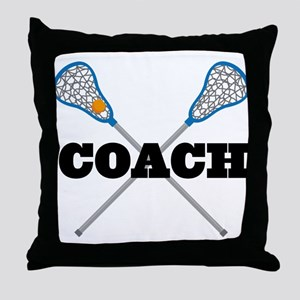 Lacrosse Coach Throw Pillow