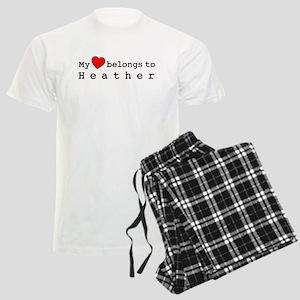 My Heart Belongs To Heather Men's Light Pajamas