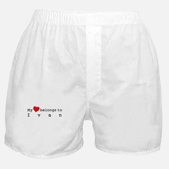 My Heart Belongs To Ivan Boxer Shorts