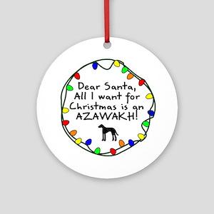 Dear Santa Azawakh Christmas Ornament