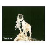 Pug Poster 16x20