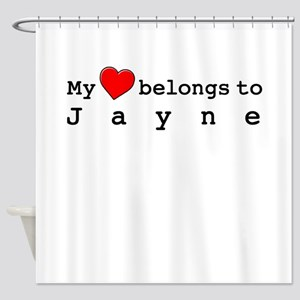 My Heart Belongs To Jayne Shower Curtain