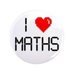 "I love maths 3.5"" Button (100 pack)"