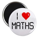 "I love maths 2.25"" Magnet (100 pack)"
