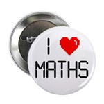 "I love maths 2.25"" Button (100 pack)"