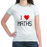 I love maths Jr. Ringer T-Shirt